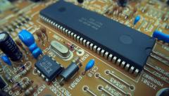 The components of the electronic board - stock footage