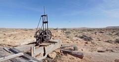 Global Warming Climate Change Drought Abandoned Wasteland Long Shot Stock Footage