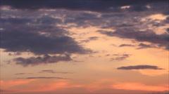 Darkening orange sky Stock Footage