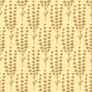 Sketch basil herb in vintage style - stock illustration