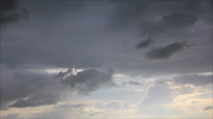 Rain fill sky Stock Footage
