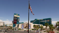 The MGM Grand Hotel in Las Vegas Stock Footage