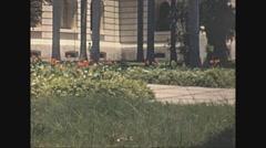 Vintage 16mm film, Havana palace gardens, 1940 Stock Footage