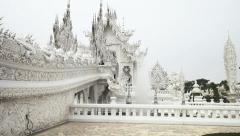 CHIANG RAI, THAILAND - CIRCA DEC 2013: A fountain and entrance bridge at the Stock Footage