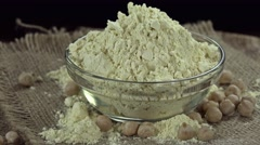 Rotating Chick Pea Flour (seamless loopable) Stock Footage