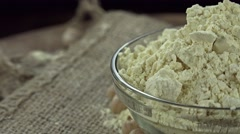 Chick Pea Flour (seamless loopable) Stock Footage