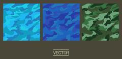camouflage fabric pattern shape - stock illustration