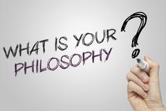 Hand writing what is your philosophy - stock illustration