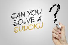 Hand writing can you solve a sudoku Stock Illustration