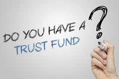 Hand writing do you have a trust fund Stock Illustration