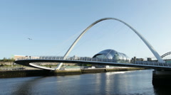 Timelapse of Gateshead Millennium Bridge Stock Footage
