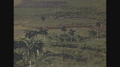 Vintage 16mm film, Havana rural view pan, 1940, #3 Arkistovideo