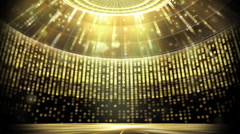 Golden revolving Stage Stock Footage