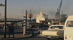 Baltimore 1972: traffic near the port Stock Footage