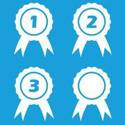 Prize icon set Stock Illustration