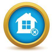 Remove house icon - stock illustration