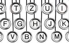 keys on a typewriter - stock photo