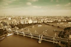 London Aerial View Stock Photos