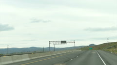 POV - Driving Interstate 84 in central Oregon - HD-P 0040 Stock Footage