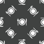 Dishware pattern Stock Illustration