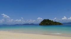 Island of Andaman Sea in tropical beach. Stock Footage