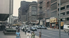 Baltimore 1972: downtown traffic Stock Footage