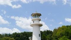 White lighthouse at coast of Andaman Sea. Stock Footage