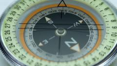 Compass arrow rotates, showing the correct way Stock Footage