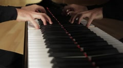 pianist playing, close up - stock footage