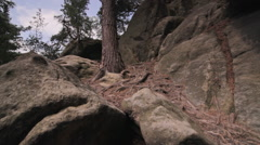 Elbe Sandstone Mountains, Saxon Switzerland, Sächsische Schweiz - stock footage