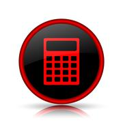 Stock Illustration of Calculator icon. Internet button on white background..