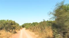 Dring Down Dirt Path in the AFRICAN country of ZAMBIA Stock Footage
