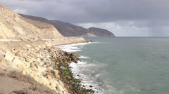 Point Mugu - Pacific Coast Highway, California Stock Footage