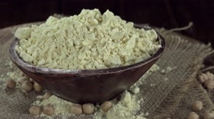 Portion of Chick Pea Flour (not loopable) Stock Footage