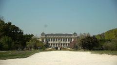 Jardin des Plantes and museum of evolution. Paris, France - stock footage