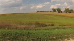 Wisconsin Farmland Landscape - stock footage