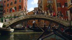 Venice -Five O'clock traffic on Venice Canal - stock footage