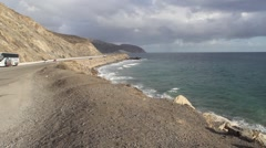 Point Mugu Pacific Coast Highway, California - stock footage