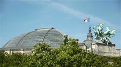 Grand Palais at Paris, France Stock Footage