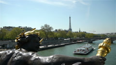 Famous attractions in city center of Paris, France - stock footage