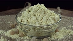 Chick Pea Flour (not loopable) Stock Footage