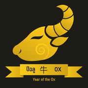 Ox - Chinese zodiac signs Stock Illustration