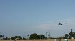 Delta Plane Landing Stock Footage