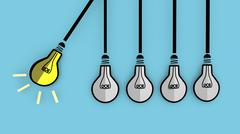 A light bulb will boost extinguished bulbs. Stock Illustration