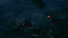 Lava tube glowing Stock Footage