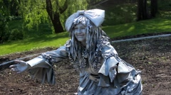 Living Statue. Kiev Stock Footage