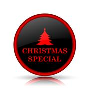 Stock Illustration of Christmas special icon. Internet button on white background..