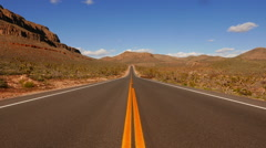 Lonesome road through the canyonlands - stock footage