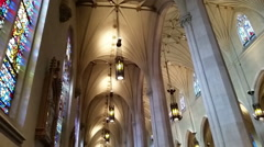 Cathedral Basilica of Christ the King/ HD church footage Stock Footage