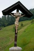Crucifix in Skofja Loka Stock Photos